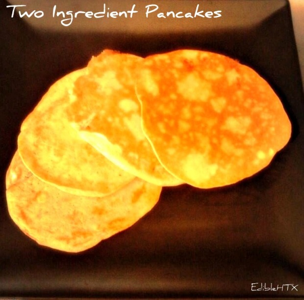 Healthy Two Ingredient Pancakes